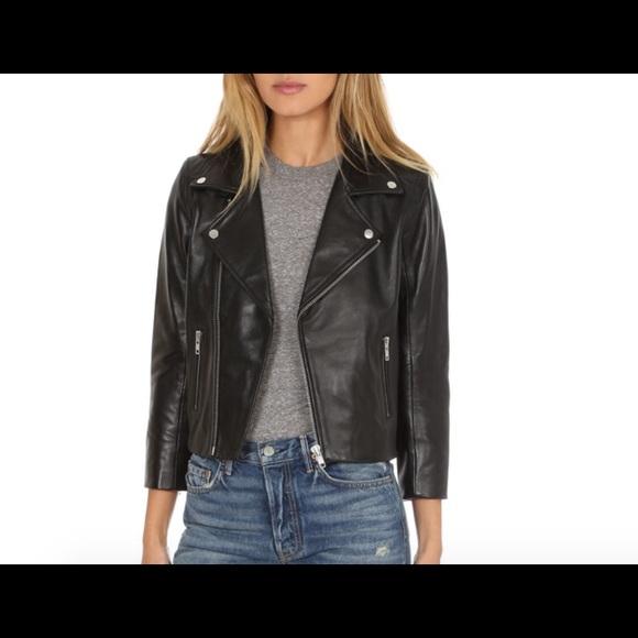 664a546199f Ganni Jackets & Coats | Passion Biker Leather Jacket | Poshmark